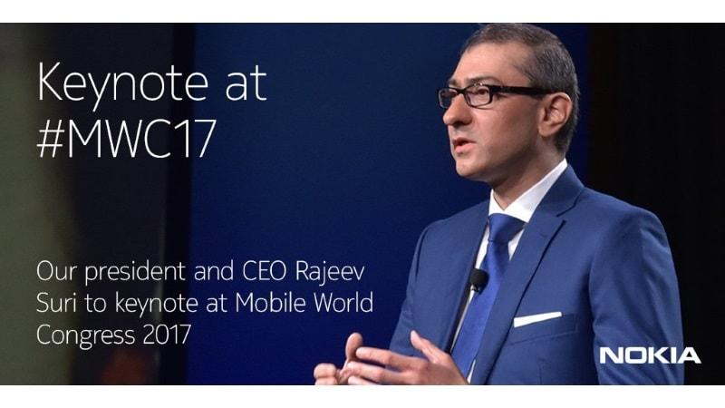 Nokia CEO Rajeev Suri to Deliver Keynote Speech at MWC 2017