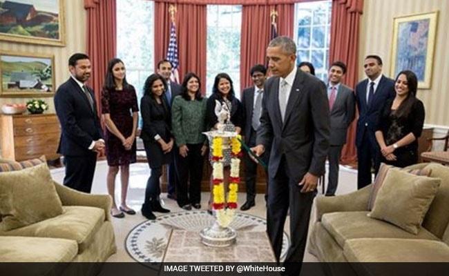 obama oval office. barack obama celebrates diwali, lights first-ever diya in oval office l