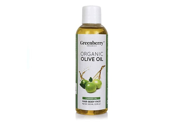 Best Olive Oils for Hair - Greenberry Organics Organic Olive Oil | 100% Organic | 100% Natural | Body Hair & Face (100 ML)