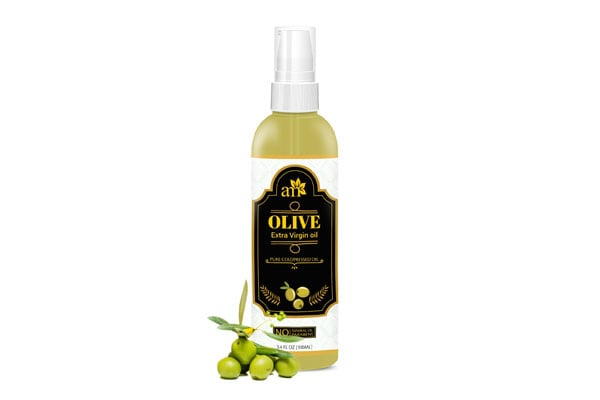 Best Olive Oils for Hair - AromaMusk 100% Pure Cold Pressed Extra Virgin Olive Oil For Hair And Skin, 100ml