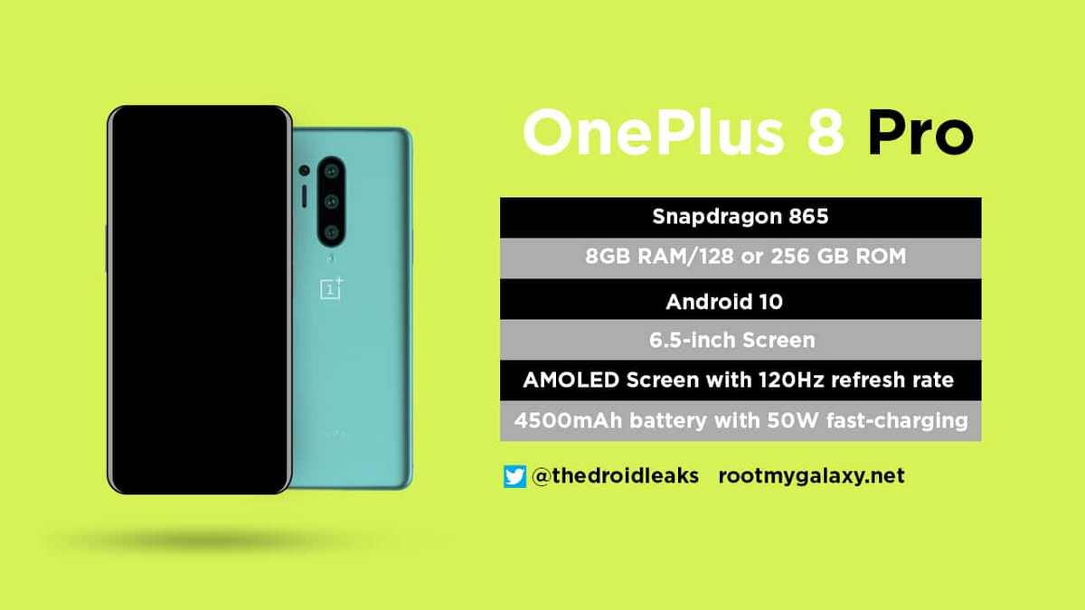 OnePlus 8 Pro droidleaks full one