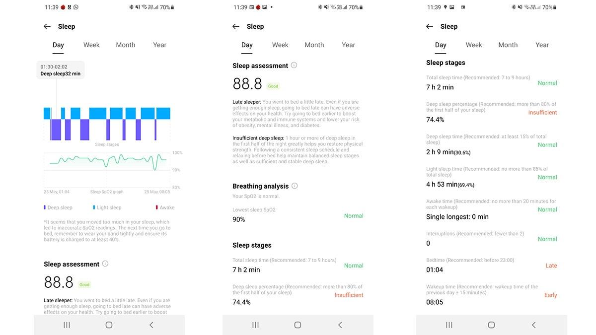 OnePlus Watch Sleep OnePlus Watch Review