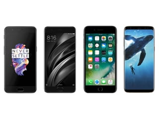 OnePlus 5 vs Xiaomi Mi 6 vs iPhone 7 Plus vs Samsung Galaxy S8: Price, Specifications, Features Compared