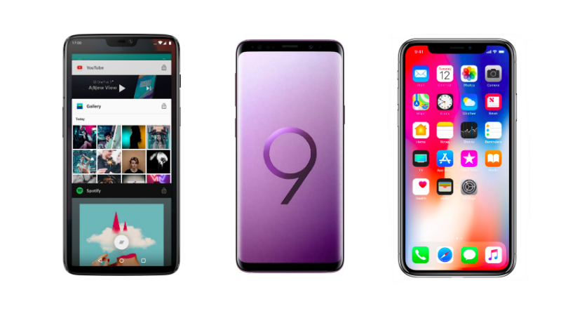 OnePlus 6 vs Samsung Galaxy S9+ vs iPhone X: Price in India, Specifications, Features Compared
