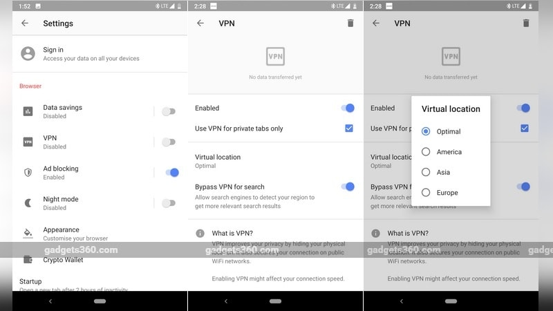 Opera Browser for Android Brings Free Inbuilt VPN With Unlimited, Log-Free Service