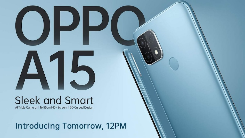 Oppo A15 With 13-Megapixel Triple Rear Camera Setup Launching in India on October 15