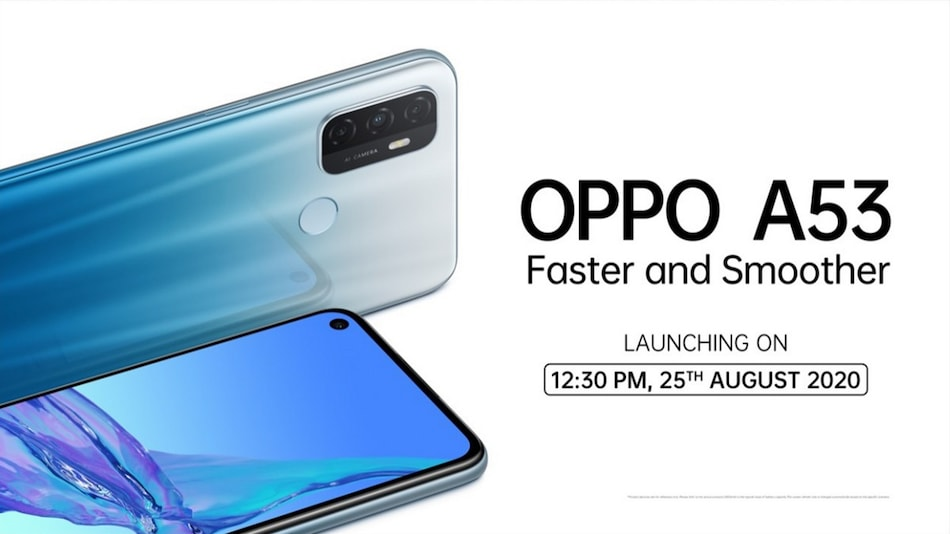 Oppo A53 2020 Set to Launch in India on August 25, to Be Priced Under Rs. 15,000