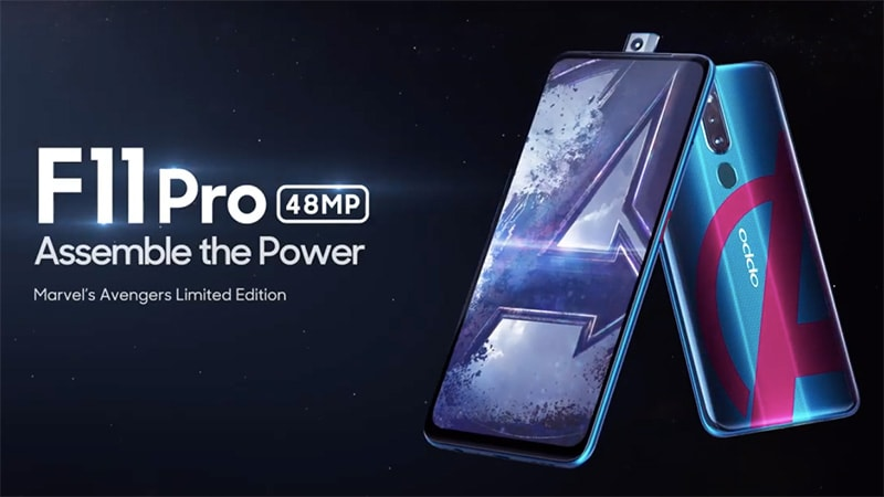 Oppo F11 Pro Avengers Endgame Limited Edition to Launch on April 24