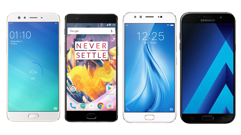 Oppo F3 Plus vs OnePlus 3T vs Vivo V5 Plus vs Samsung Galaxy A7 (2017): Which Phone Is Right for You?
