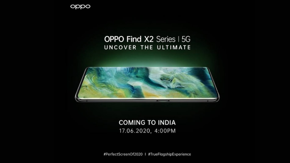 Oppo Find X2 Series India Launch Set for June 17, Company Reveals