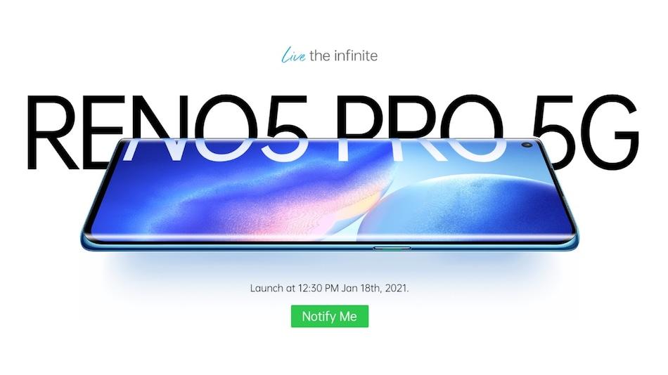 Oppo Reno 5 Pro 5G भारत में 18 जनवरी को होगा लॉन्च, जानें क्या हो सकती है कीमत व खासियत