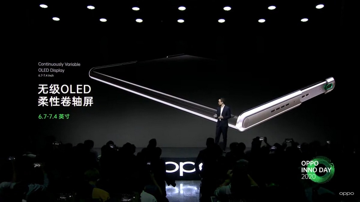OPPO unveils rollable smartphone display concept design
