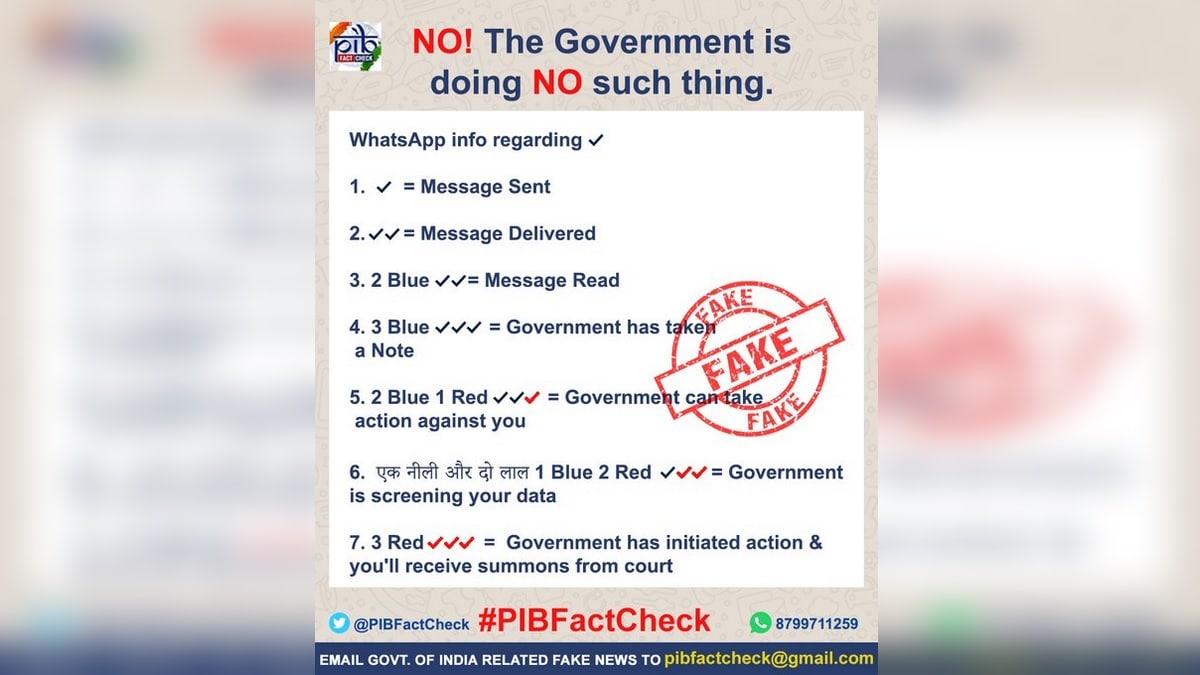 WhatsApp Three Red Ticks Viral là một tin nhắn giả mạo: Kiểm tra thực tế PIB 3