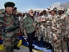 PM Modi Celebrates Diwali With Soldiers In Gurez, Jammu and Kashmir