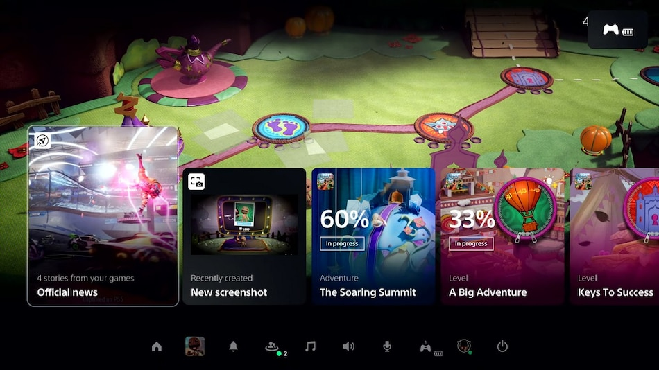 Sony PlayStation 5's Revamped UI Shown Off With Control Center, Cards, and Other Improvements
