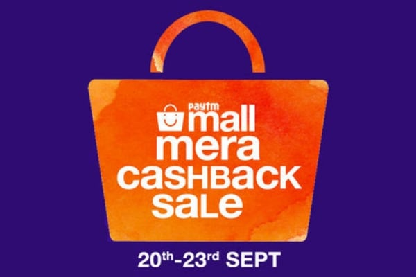 Paytm Mall Mera Casback Sale 20th-23rd Sept 2017, Enjoy Best Deals, Cashback Offers