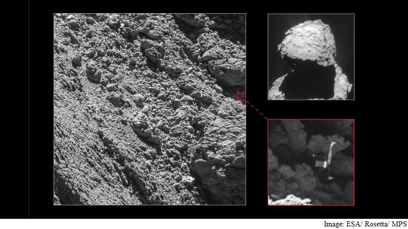 ESA's Rosetta Spacecraft Spots Philae Comet Lander That Was Thought Lost Forever
