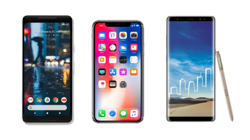 Pixel 2 XL vs iPhone X vs Samsung Galaxy Note 8: Price in India, Specifications, Features Comparison