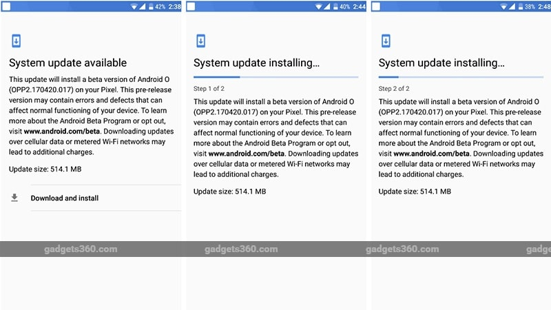 Pixel Update NDTV Google Pixel Android O