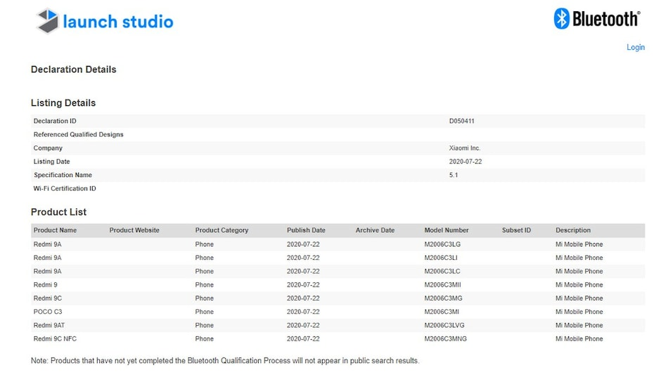 Poco C3 Appears in Bluetooth SIG Listing, May Be Rebranded Version of Redmi 9C