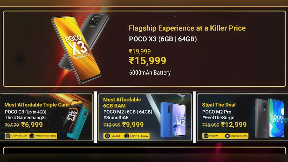 Poco Days Sale on Flipkart Brings Discounts on Poco X3, Poco C3, Poco M2 and Poco M2 Pro