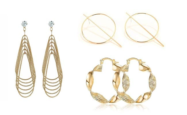 Pooja Hegde Inspired Fashion Essentials Golden Statement Earrings 1560160382391