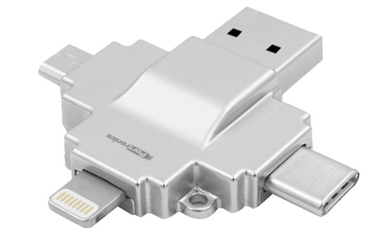 Portronics Diski Type C Micro USB Lightning Card Reader  Four USB Type-C Accessories You Can Buy For Your MacBook Right Now Portronics Diski 1508745204373