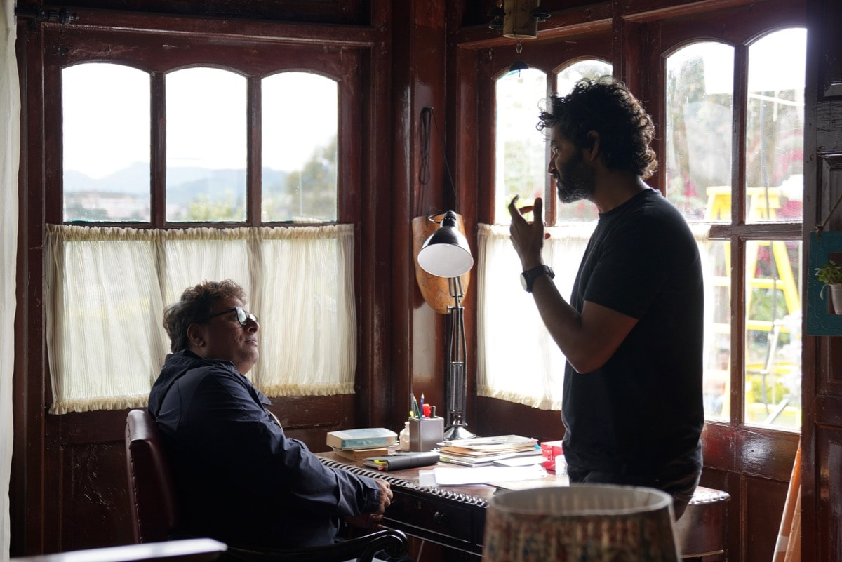 Purab Kohli and Director Tigmanshu Dhulia on the sets of Hotstar Specials presents Out Of Love 1 Out of Love Hotstar