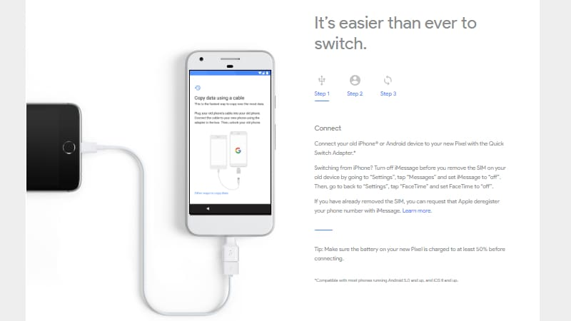 Google Pixel Phones Feature a Quick Switch Adapter to Make iPhone Data Transfer Easy