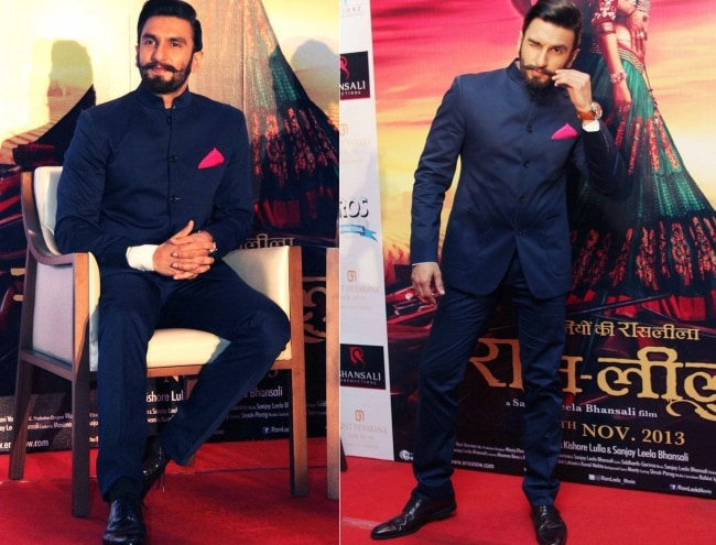 Ranveer Singh Looks Regal in Navy Bandhgala 1559284291714