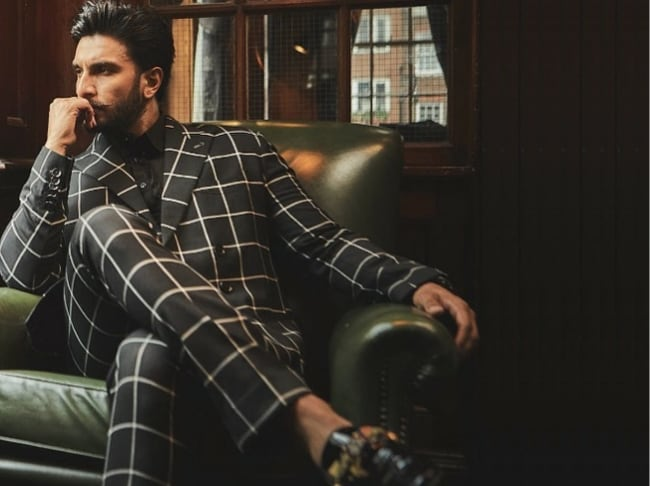 Ranveer Singh in Checkered Suit 1559284121825