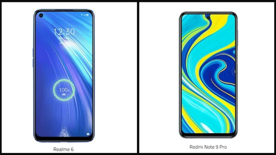 Redmi Note 9 Pro vs Realme 6: Price in India, Specifications Compared