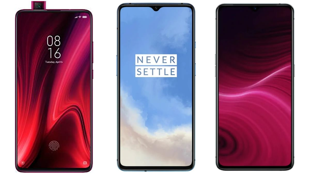 Realme X2 Pro vs OnePlus 7T vs Redmi K20 Pro; Price in India, Specifications Compared
