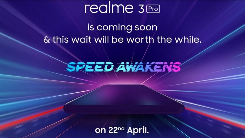 Realme 3 Pro 'Blind' Pre-Bookings Open April 19; Fast Charging Support Teased