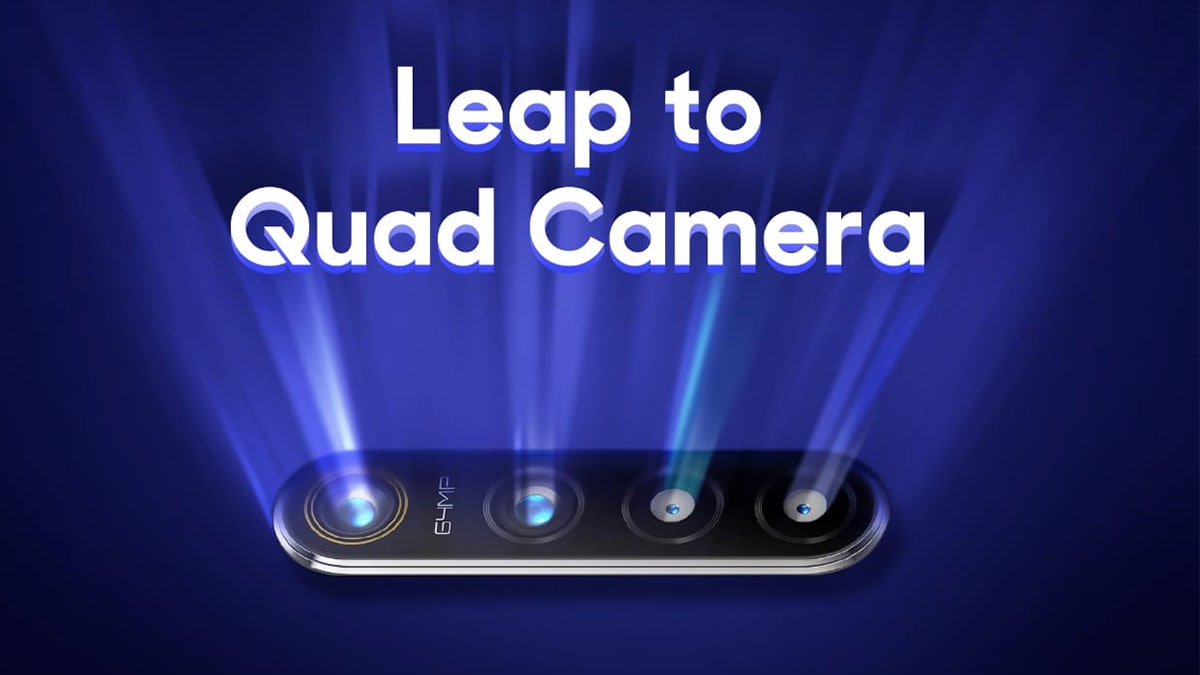 Realme 64-Megapixel Quad Camera Smartphone Tech to Be Showcased on August 8 in India
