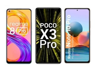 Realme 8 Pro vs Poco X3 Pro vs Redmi Note 10 Pro: Price, Specifications Compared