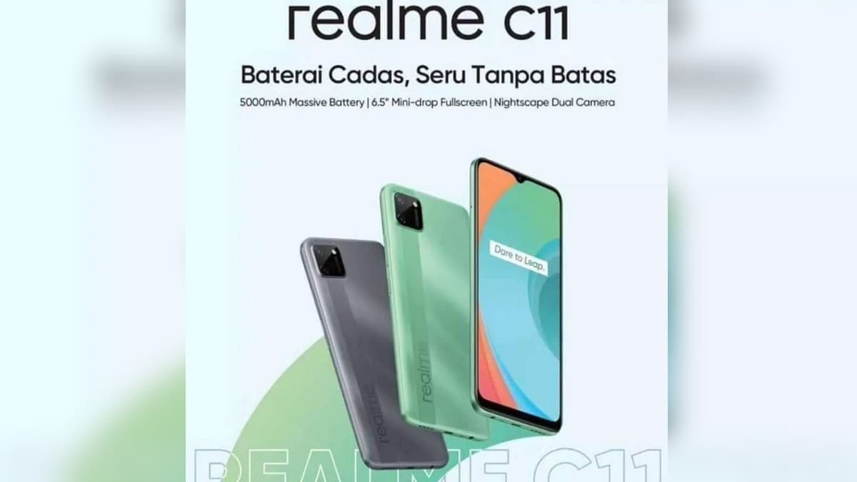 Realme C11 Specifications, Design Tipped in Leaked Poster, May Feature 5,000mAh Battery, Dual Rear Cameras