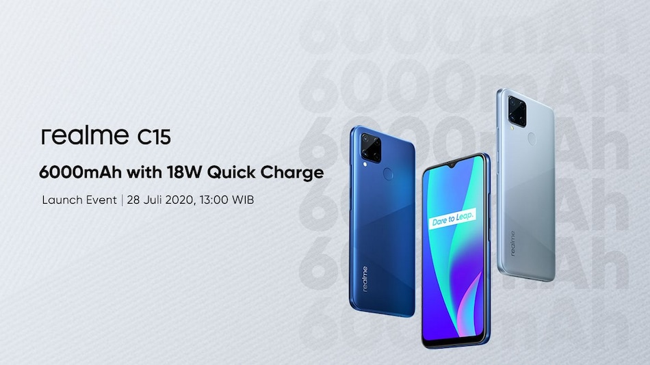Realme C15 With 6,000mAh Battery, Quad Rear Cameras to Launch on July 28