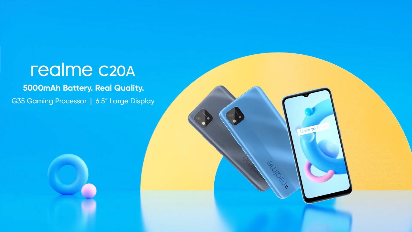 Realme C20A With MediaTek Helio G35 SoC, 6.5-Inch Display Teased by the Company