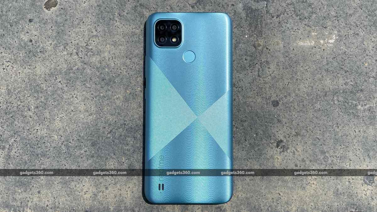 Realme C21 rear  blue ndtv RealmeC21  Realme