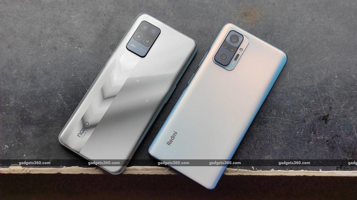 Realme Narzo 30 5G vs Xiaomi Redmi Note 10 Pro back design ndtv RealmeNarzo305G  Realme  XiaomiRedmiNote10Pro  Xiaomi