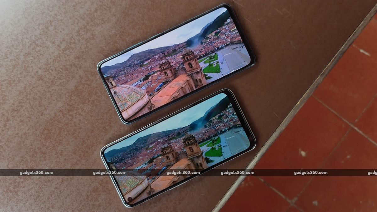 Realme Narzo 30 5G vs Xiaomi Redmi Note 10 Pro front display movie ndtv RealmeNarzo305G  Realme  XiaomiRedmiNote10Pro  Xiaomi