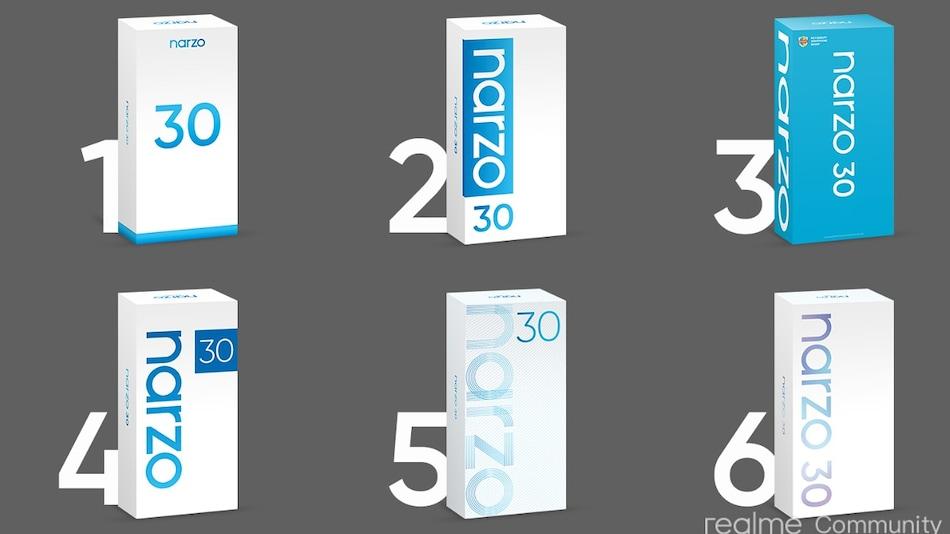 Realme Narzo 30 की जल्द होगी भारत में एंट्री, कंपनी ने पेश किए रिटेल बॉक्स के डिज़ाइन