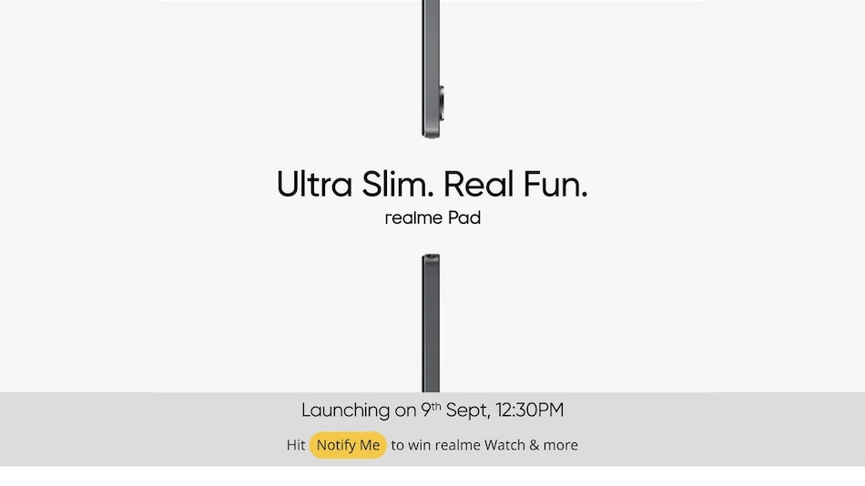 Realme Pad India Launch Set for September 9 at 12:30pm via Virtual Event