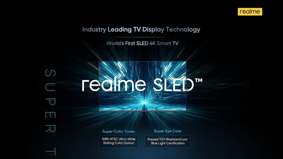 Realme SLED 4K Smart TV With 55-Inch Screen Size Launching in India Soon