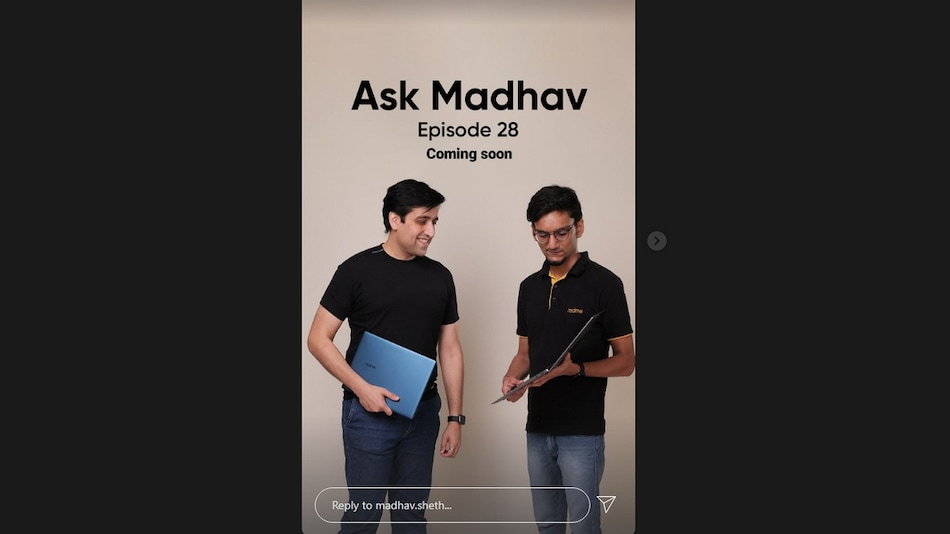 Realme Book Laptop's Blue Colour Variant Teased by CEO Ahead of Launch