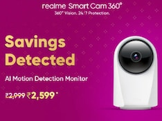 Realme Smart Cam 360 Gets Dussehra Specials Sale Discount on Flipkart, Priced at Rs. 2,599