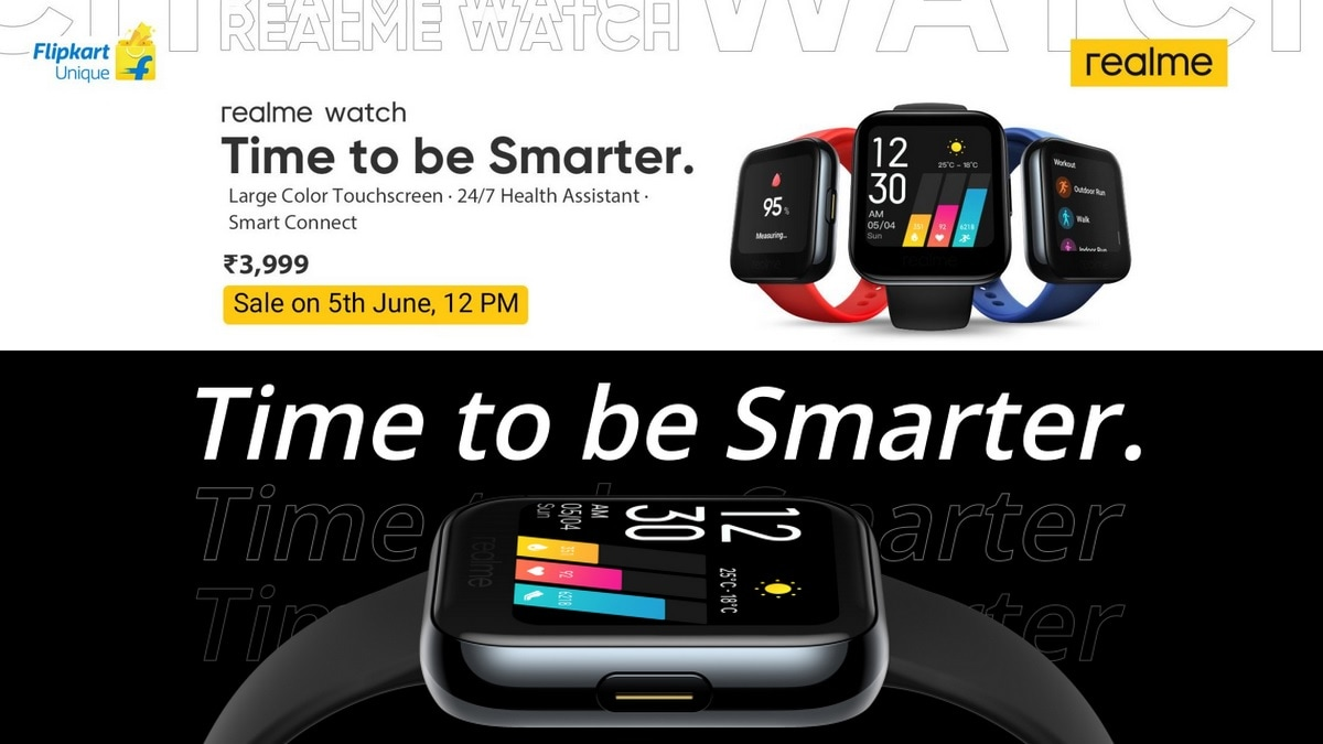Realme Watch to Go on Sale Today at 12 Noon via Flipkart, Realme Website: Price in India, Specifications