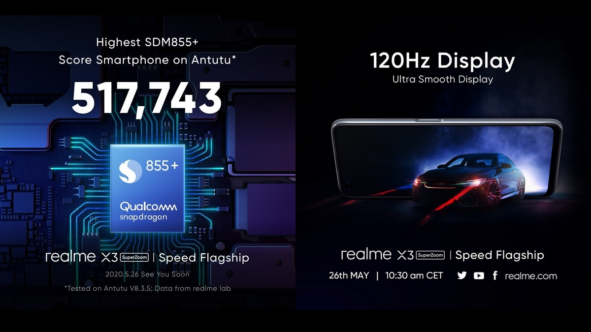 Realme X3 Superzoom Will Feature 120hz Display Snapdragon 855