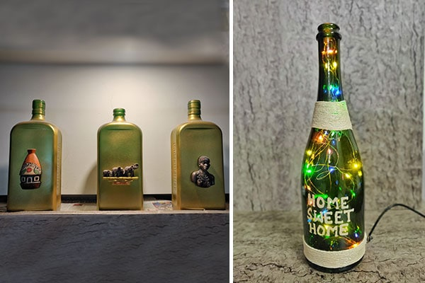 Recycle and Reusing Bottle for Decoration